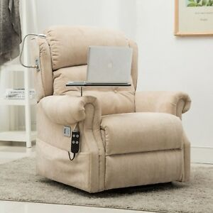Stanbury Dual Motor Riser Recliner Chair With Table Usb