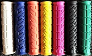 PAIR-Bar-Grips-Colour-Soft-Sticky-Krayton-Rubber-Kraton-Bike-Scooter-Handlebar