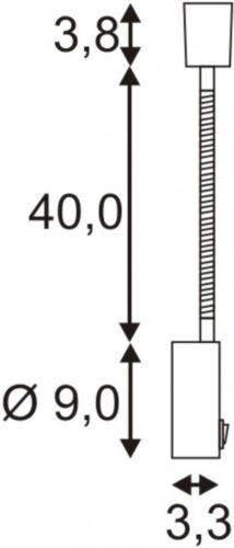 GU10 50W chrom SLV DIO FLEX PLATE Wandleuchte max