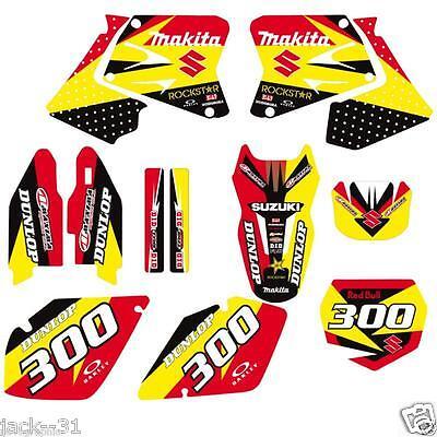 RACING SUZUKI RM 125 RM125 RM250 250 VINYL MX Motocross Graphic Kit 2001-2002