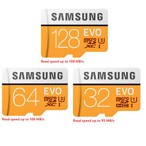 Samsung-EVO-32GB-64GB-128GB-Micro-SD-SDHC-SDXC-Class-10-UHS-I-TF-Memory-Card-HD