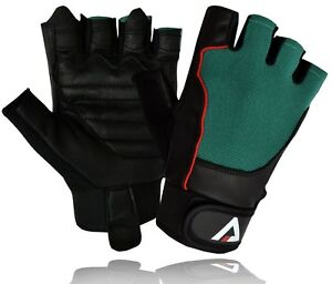 HALF FINGER WORKOUT TOP QUALITY LEATHER GLOVES WEIGHT LIFTING FITNESS CYCLING - London, London, United Kingdom - HALF FINGER WORKOUT TOP QUALITY LEATHER GLOVES WEIGHT LIFTING FITNESS CYCLING - London, London, United Kingdom
