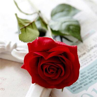 20 10 pcs Latex Moisturizing Red Rose Flowers Wedding & Home Design Rose Bouquet