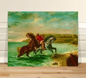 Eugene Delacroix Coming Out of the Sea ~ FINE ART CANVAS PRINT 24x16""