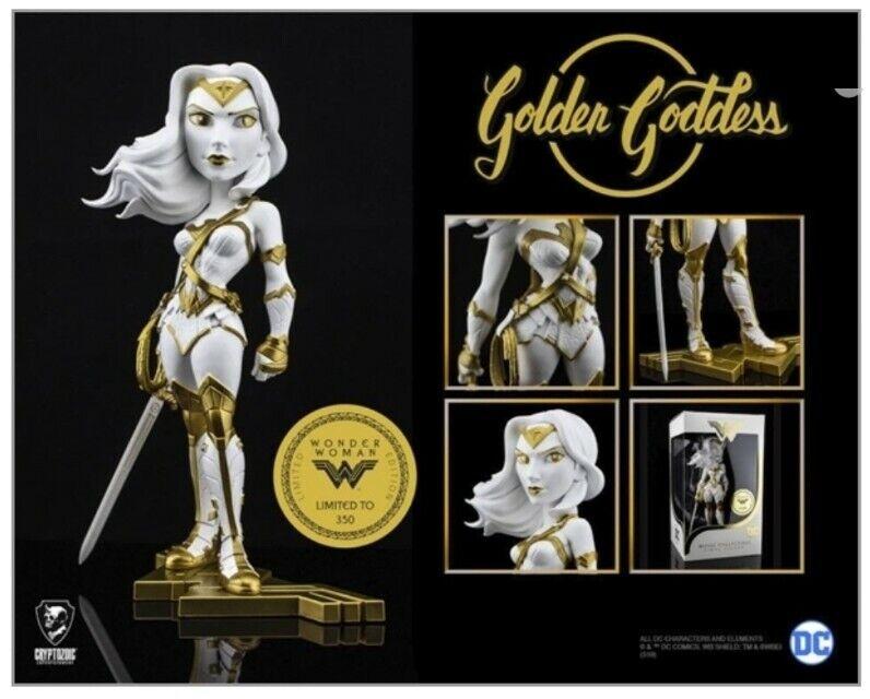 NYCC 2019 exclusive golden Goddess WONDER WOMAN vinyl figure DC Cryptozoic gold