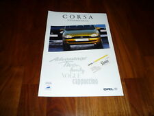 Opel Corsa SONDERMODELLE Prospekt 07/1997