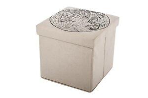 Stabile mdf sgabello pieghevole con contenitore sedile vano