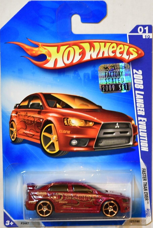 Hot Wheels 2009 Faster Than Ever 2008 Lancer Évolution   01 10 Emballage