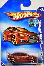 HOT WHEELS 2009 FASTER THAN EVER 2008 LANCER EVOLUTION #01/10 FACTORY SEALED
