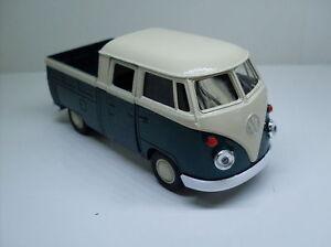 VW-T1-Doka-gruen-weiss-Welly-Auto-Modell-ca-1-34-1-38-Neu