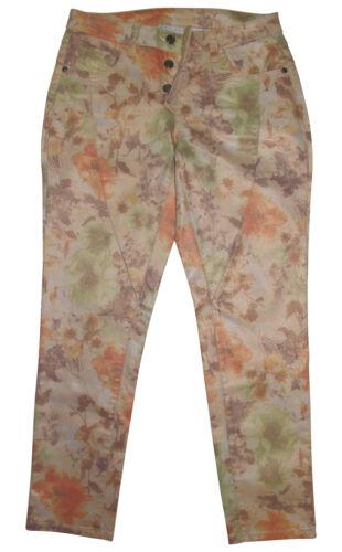 Alba MODA 7//8 Pantaloni n 36 albicocca Colorato Stampa Pantaloni metallico Print Nuovo