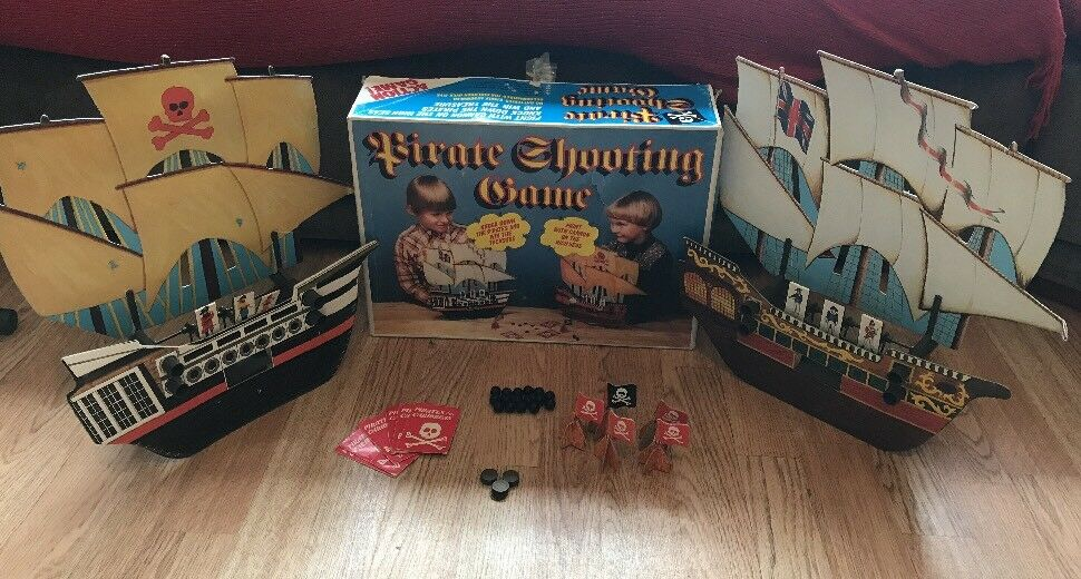 Vintage Retro Boxed Marx Toys Pirate Shooting Action Game 1960's