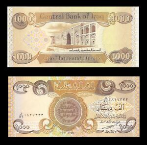 Details About Iraqi Dinar 1 000 New X Uncirculated Collectable Limit 10 Notes