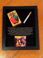 Pulp Fiction Red Apple Cigarette Pack, Framed , Very Neat Piece, John Travolta