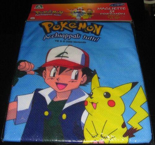 Pokemon Maglietta BLU Ash Ketchum T-Shirt Pikachu 7-8 anni taglia M