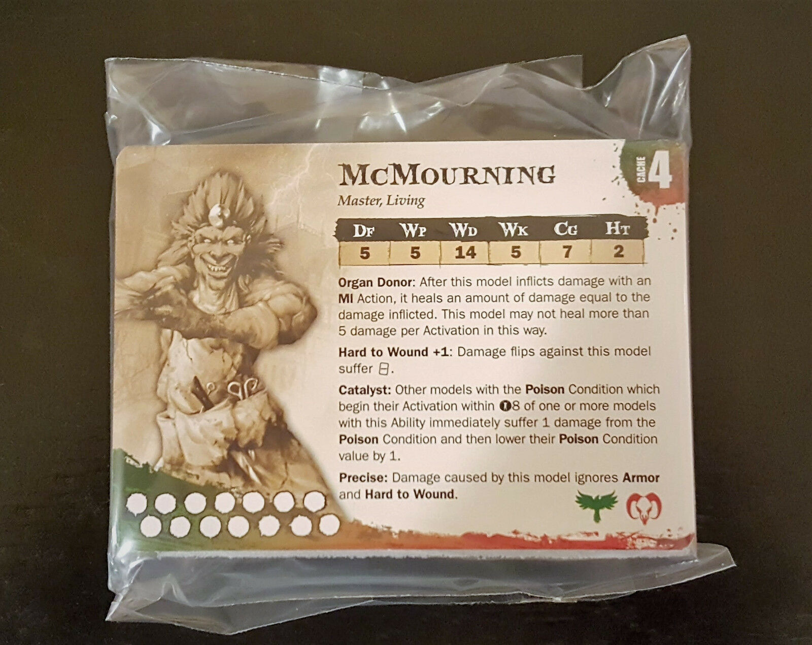 Malifaux VINTAGE McMourning LIMITED EDITION GUILD RESURRECTIONISTS