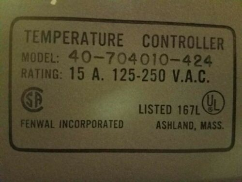 Details about  /FENWAL 40-704010-424 TEMPERATURE INDICATING CONTROLLER
