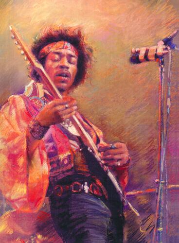 Prints From Artist Haiyan Original Painting Jimi Hendrix Portrait Art Canvas