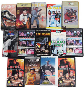 LOT-Of-15-VHS-VIDEO-TAPES-Vtg-80s-90s-2000s-Action-Kung-Fu-Western-amp-War-Movies