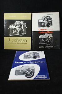 Vintage Leica Camera Lens Catalog lot 1960s lot of 3