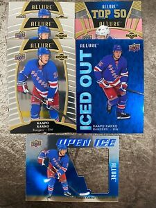 2019-20-UD-ALLURE-7x-KAAPO-KAKKO-ROOKIE-LOT-OPEN-ICED-OUT-PINK-TOP-50-RANGERS