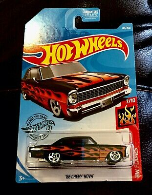 Hot Wheels /'66 Chevy Nova HW Flames 143//250 2019 short card