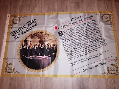 Ulster Covenant anniversary commemoration loyalist British Flag 3X5 ft