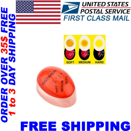 US STOCK Egg Color Changing Timer Yummy Soft Hard Boiled Eggs Cooking Kitchen