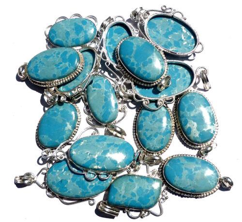 Larimar Gemstone 925 Sterling Silver Plated Pendants Wholesale Lot jewelry EB52