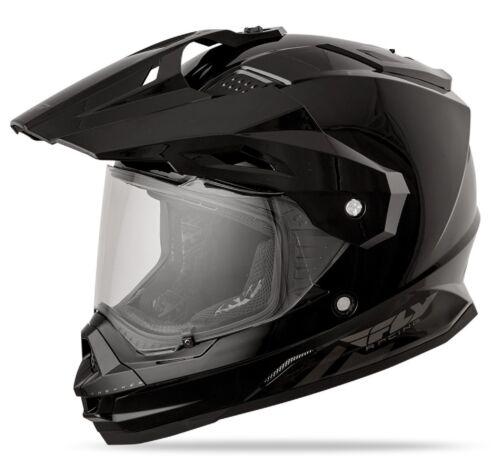 2015 Fly Racing Trekker Helmet Matte Gloss Black White Silver Hi Vis