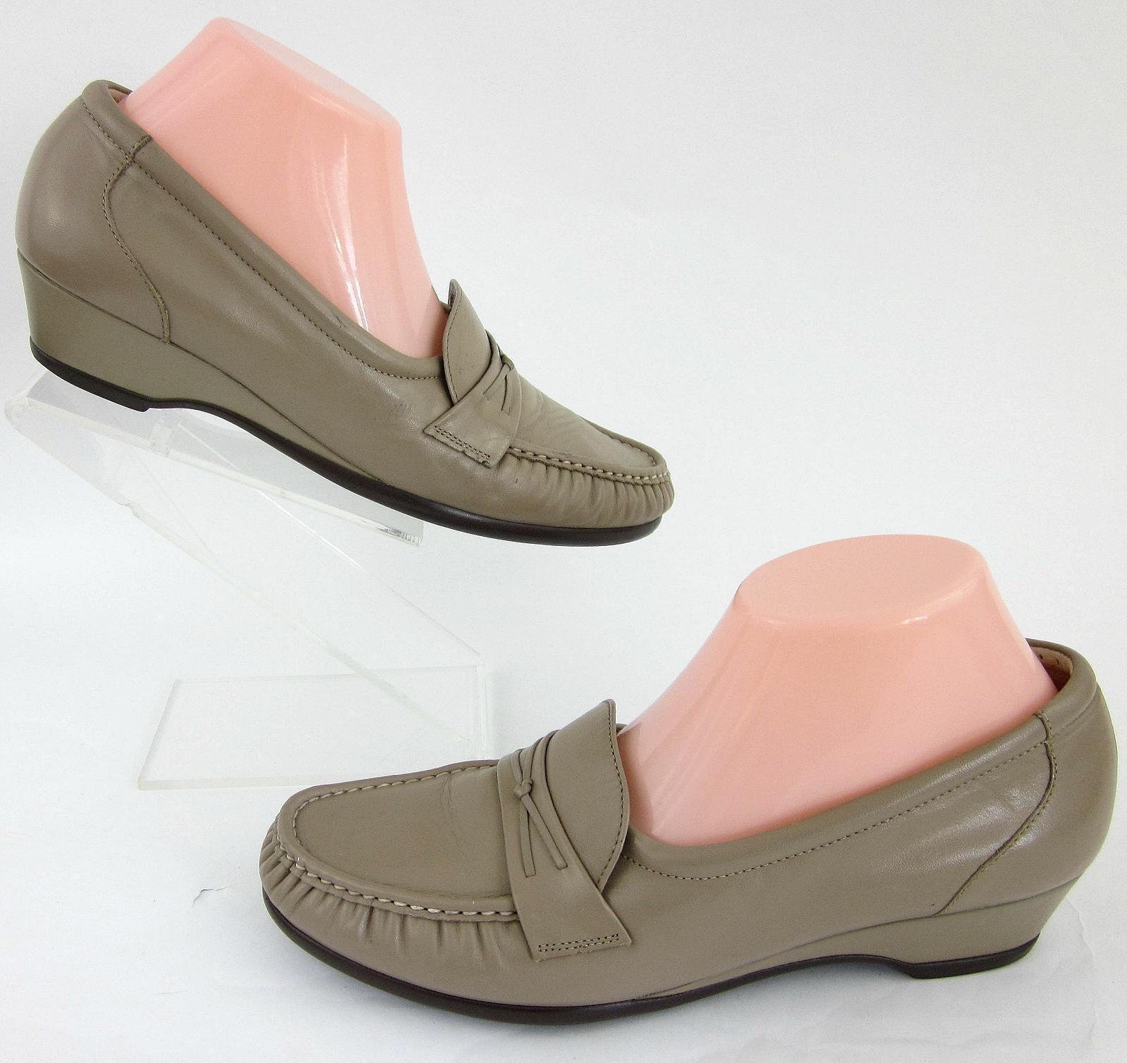 SAS 'Easier' Slip On Moccasin Shoes Mocha Pelle Sz 9.5N Worn Once!