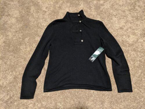 New P Lauren Petite Ralph Overlap Sweater Green Quarter l Label 8dr8xXq7