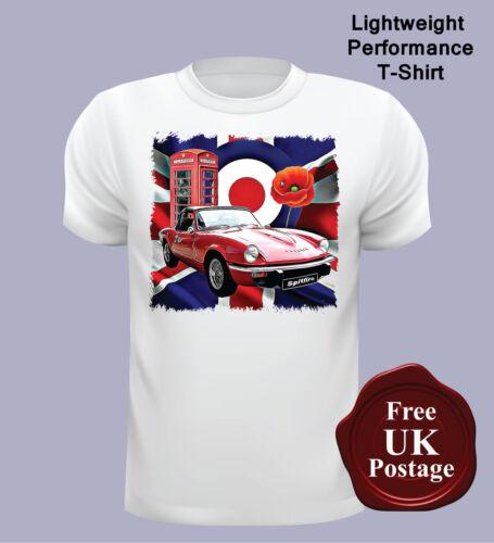 Clothing Shoes Accessories T Shirts Target Triumph Spitfire Men S T Shirt Mod Union Jack Po Triumph Spitfire