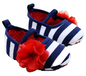 4bfaa0be9d67 NEW Baby Girl 4th of July Mary Jane Ballet Crib Shoes 0-6 6-12 12-18 ...