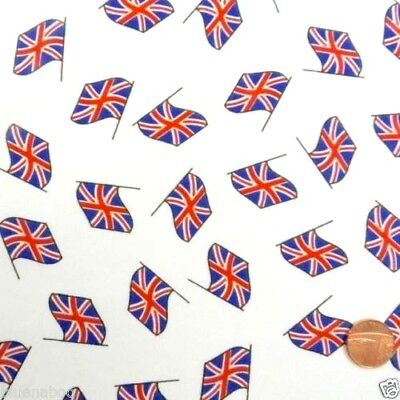 Fat Quarter London Icons UK England Britain Cotton Quilting Sewing Fabric