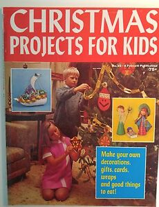 Vintage 1970s Craft Magazine Christmas Projects For Kids Patterns