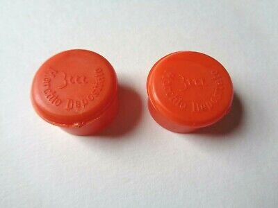 *nos Vintage 1970s/80s 3ttt Handlebar End Plugs (molteni Orange)* Bevorder De Productie Van Lichaamsvloeistof En Speeksel