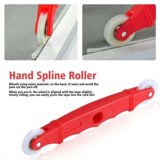 Red Screen Door Window Installation Hand Spline Roller Nylon Rolling Tool c CA