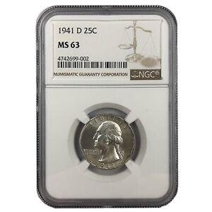 #FJ 1941-D NGC MS65 Washington Quarter!