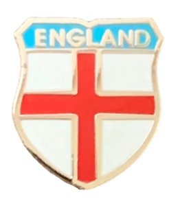 Small England St Georges Cross Rugby Football Tie-Lapel Badge Enamel Pin Badge
