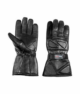 Men-039-s-Snowmobile-Motorcycle-ATV-Winter-Leather-Thinsulate-Lined-Gloves-Gauntlet