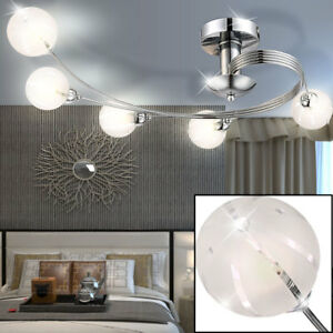 LED Decken Beleuchtung Glas Kugel Design Leuchte Schlafzimmer Lampe ...