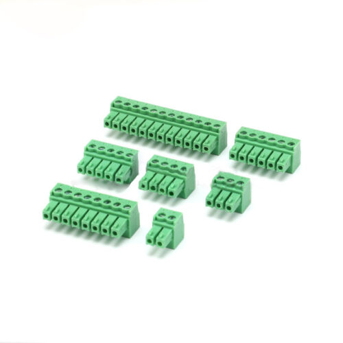 3.81mm KF2EDG3.81 Male Plug Connector 2P 3P 4P 5P 6P 8P 12P Pin Free P/&P