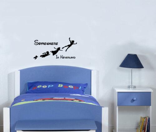 Peter Pan quelque part dans Neverland Disney chambre decal wall sticker photo