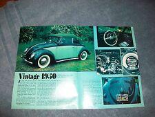 "1950 VW Bug Convertible Vintage Article ""Vintage 1950"" All Original"