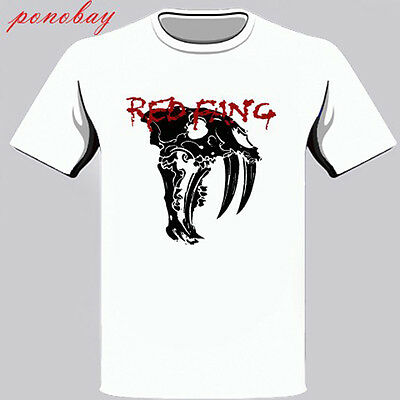 New Red Fang Heavy Metal Band Logo Men/'s White T-Shirt Size S to 3XL