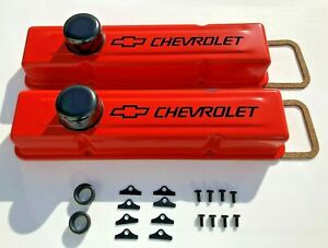 Aluminum BM Valve Covers For Small Block Chevy 327 350 383 400 Factory Height