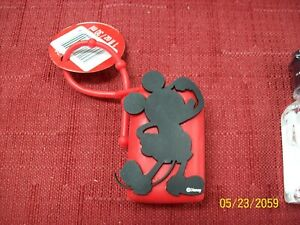 Disney-Mickey-Mouse-hand-sanitizer-Holder-small-black-and-red-flexible