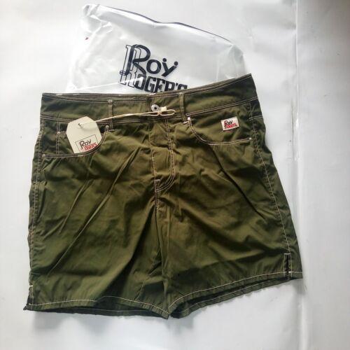 Costume Boxer Roy Rogers 2018 Tasche Impunture Contrasto Verde Militare BEACH