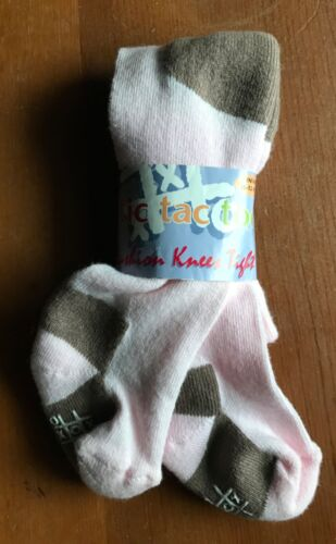 Details about  /NWT knee pad tights~choose pink /& brown or white /& pink~6-12 mo or 12-24 months